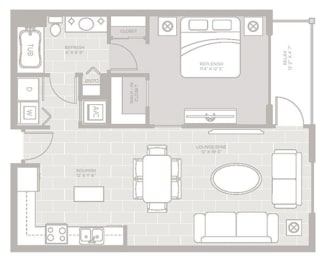 Anchor Floor Plan at Berkshire Lauderdale by the Sea, Ft. Lauderdale, FL