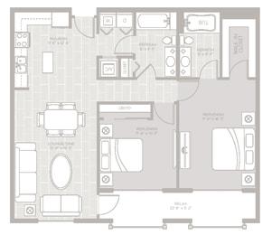 Cove Floor Plan at Berkshire Lauderdale by the Sea, Ft. Lauderdale, 33308