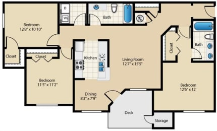 Cottonwood Renovated Floor Plan at Wyndchase at Aspen Grove, Tennessee