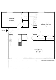 Two Bedroom Apartment at Long Pond Shores Waterfront Apartments, Rochester, NY