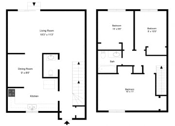 Three Bedroom - Phase I at Collett Woods Townhouses, New York