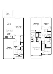 Floor Plan 3 Bedroom Townhouse - Phase III