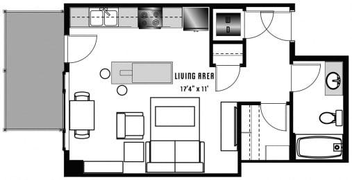 A1 Floor Plan at 2020 Lawrence, Colorado