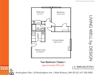 Two bedroom apartment in West Roxbury, MA