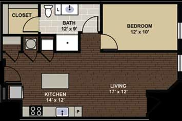 Atherton Floor Plan at Berkshire Dilworth, Charlotte, NC