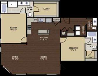 Buchanan Floor Plan at Berkshire Dilworth, Charlotte, North Carolina