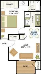A1 1 Bedroom 1 Bath Floorplan at Cypress Ridge Apartments, Houston, 77014