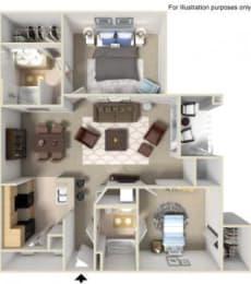 Rapallo Apartments Milano 2 bedroom floor plan