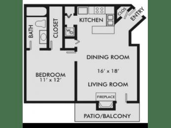 Floor Plan Carolinian 1-1