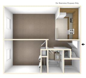 One Bedroom Floor Plan Franklin Square Manor