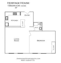 Heritage House floorplan