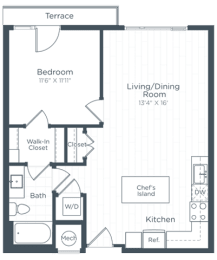 A4 Floor Plan at Highgate at the Mile, McLean, 22102