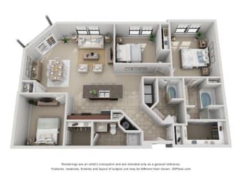 Floor Plan C1 Renovated