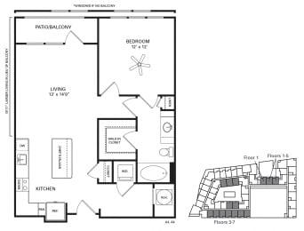 Kenan Floor Plan at Berkshire Chapel Hill, Chapel Hill, 27514