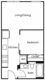 A4 Floor Plan at Lower Burnside Lofts, Portland, OR, 97214
