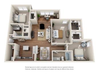 Floor Plan C1S - Bell Meade with Sunroom