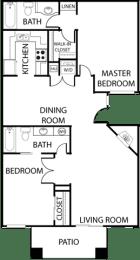 El Dorado Place two bedroom floor plan