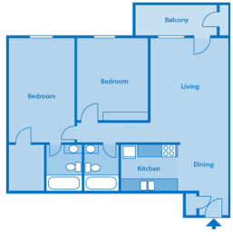 Tanglewood Two Bedroom Floor Plan