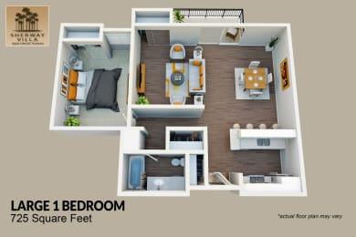 Floor Plan Large 1 Bed 1 Bath