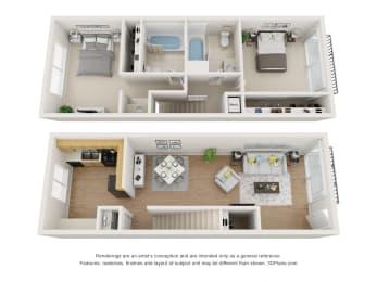 Floor Plan A at Superior Place, Northridge, CA
