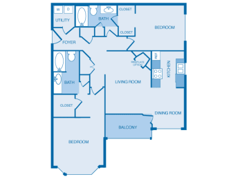 B2A Floorplan at The Legends at Indian Springs, Louisville, 40241