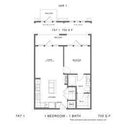 Floor Plan STAG'S LEAP 7A7.1