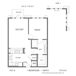 Floor Plan STAG'S LEAP 7A7.8