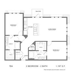 Floor Plan STAG'S LEAP 7B4