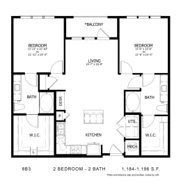 Floor Plan STAG'S LEAP 8B3