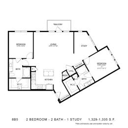 Floor Plan STAG'S LEAP 8B5