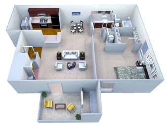 Walton Crossing A2 Floor Plan, Austell GA