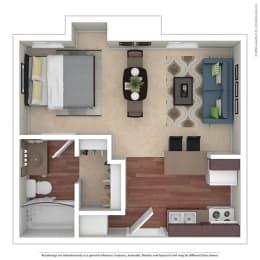 Studio 0 Bed 1 Bath Floor Plan at Chatsworth Pointe, Canoga Park, CA