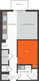 S3 Floor Plan at Berkshire Coral Gables, Florida, 33146