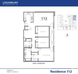 Floor Plan 112, Apartments in Glendale, California, Legendary Glendale