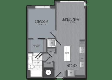 M.1B5A Floor Plan at TENmflats, Columbia, MD