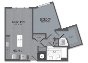 M.1E1 Floor Plan at TENmflats, Columbia