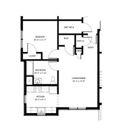 1 bedroom apartment at Meadows at Middle Settlement in New Hartford, NY