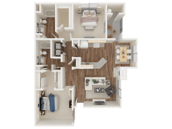 PINNACLE AT GALLERIA | Apartments | Floorplan | 2x2a Cascade