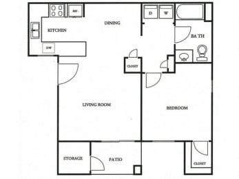 Floorplan at The Colony Apartments, Casa Grande, 85122