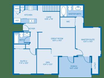 Cooper Floor Plan at Reserve at North River, Alabama