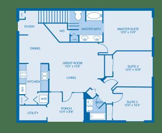 Savannah Floor Plan at Reserve at North River, Tuscaloosa, 35406