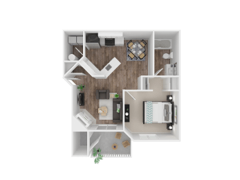 One Bedroom Floor Plan  Apartment For Rent in Gresham OR 97080 l The Arden