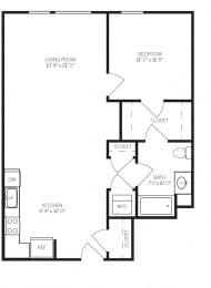 Floor Plans A4 at AVE Walnut Creek, Walnut Creek