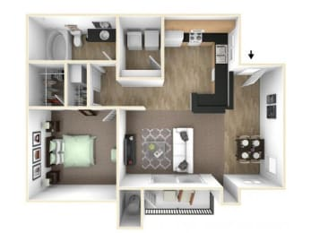 Floor Plan  The Acorn floor plan l The Preserve at Creekside Apartments in Roseville CA