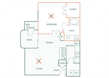 Sonterra Apartments at Paradise Valley - A1 (Jade) - 1 bedroom and 1 bath