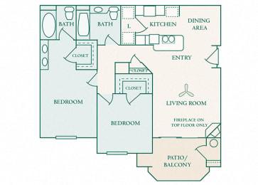 The Commons - B1 - Brighton - 2 bedroom - 2 bath