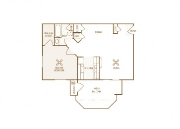Arrowhead Landing Apartments - A2 (Starboard) - 1 bedroom and 1 bath