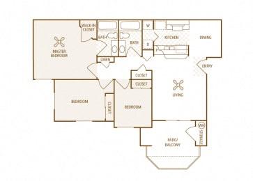 Arrowhead Landing Apartments - C1 (Marina) - 3 bedrooms and 2 bath