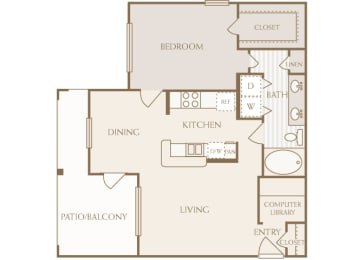 Lodge at Cypresswood - A2 - 1 bedroom - 1 bath