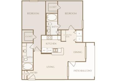 Lodge at Cypresswood - B1 - 2 bedrooms - 2 bath